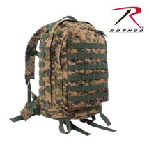 US Military Molle II 3 Day Assault Airsoft Woodland Digital Camo Backpac... - $59.39
