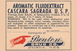 Aromatic Fluid Extract Cascara Sagrada U.S.P. 20x30 Poster - €21,48 EUR