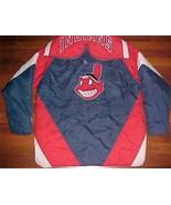 Lee MLB AL East Cleveland Indians Chief Wahoo Hoodie Zipper Button Men J... - $98.01