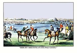 Bibury Meeting in its Paly Days 20x30 Poster by Henry Thomas Alken - $24.95