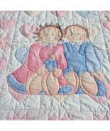 "Boy & Girl Doll Quilt Handmade Crib Blanket Quilt 36"" x 44""  - $19.34"