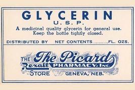 Glycerin U.S.P. 20x30 Poster - €21,48 EUR
