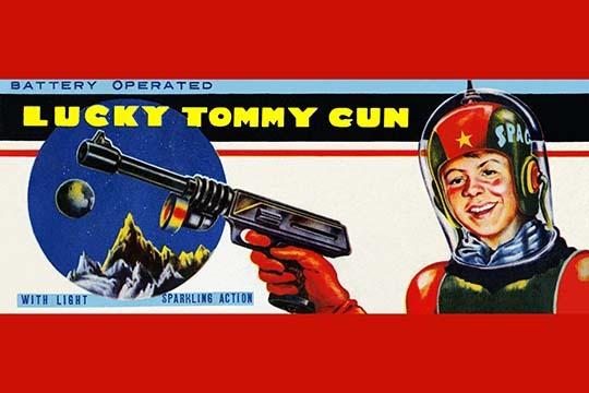 Lucky Tommy Gun 20x30 Poster
