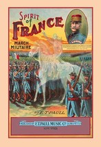 Spirit of France: March Militaire 20x30 Poster by E.T. Paull - €21,48 EUR