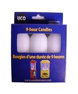 9-Hour Candles, Regular, White, 3pk - $7.64