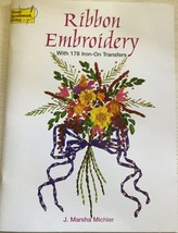 Ribbon Embroidery with 178 Iron On Transfers by... - $8.99
