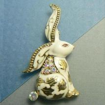 White Bunny Rabbit Enamel Pin Brooch - $12.95