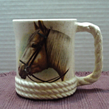 Vintage Large Horse Equestrian Ceramic Coffee Cup // Mug // Farmhouse/Co... - $8.50