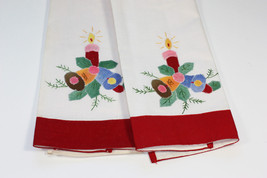 Set of 2 Embroidered Applique Towels Christmas ... - $10.00