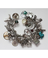 Souvenir Sterling Charm Bracelet 47 Charms Las ... - $249.00
