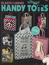 Handy Totes, Plastic Canvas Pattern Booklet TNS 90PB2 Tote Bag Carry All... - $4.95