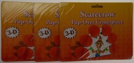 Set 3 Scarecrow 3D Pop Over Centerpiece Beistle Creation Completely Asse... - €12,02 EUR