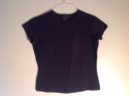 Express World Brand 95% Cotton 5% Spandex Medium Black Crewneck T-shirt