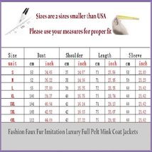 Long Full Pelt Snow White Fox Faux Fur O Neck with Long Sleeves Luxury Fur Coat image 2