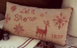 CLEARANCE Let It Snow christmas cross stitch ch... - $7.50