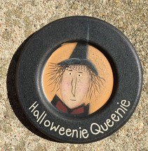 32923HQ - Halloweenie Queenie Wood Plate  - $4.95