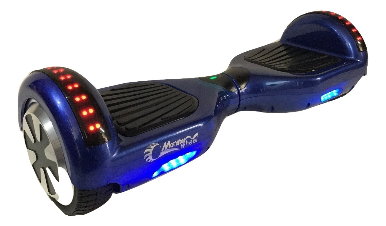 MonsterWheel BLUETOOTH Hoverboard color LED light M1B Blue ...