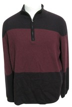 NWT Calvin Klein Brown Chestnut 100% Merino Wool Sweater XL $89 Colorblo... - $39.55