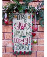 CLEARANCE Merry & Bright christmas cross stitch chart Shepherd's Bush - $4.00