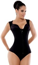 Ann Michell 5055 Eva Powernet Vest - Latex Free Black Fajas Colombianas ... - $57.23