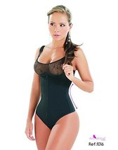Ann Michell Powernet Body Shaper Bra Less black size XL 40 free Latex - $46.78