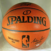STEPH CURRY & KLAY THOMPSON / DUAL AUTOGRAPHED NBA LOGO FULL SIZE BASKETBALL COA image 5