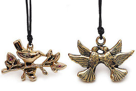 Birds Symbol Peace Handmade Brass Necklace Pendant Jewelry - $9.99