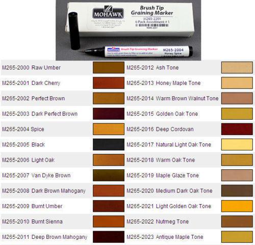 MOHAWK Brush Tip Graining Marker - Multiple Colors M265-20