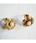 Metropolitan Museum of Art Baroque Clip Earrings MMA 24K GP - 925 and Pe... - $118.79