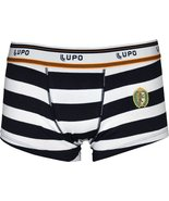 Lupo Mens Fashion Cotton Boxer Brief Sunga Trunk Underwear White & Navy ... - $11.12