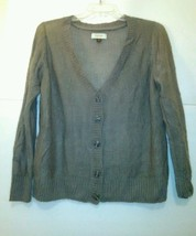 Sonoma V-Neck Button Front Long Sleeve Thin Sweater SIZE XL - $10.40