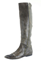 36/6 Alberto Fermani Tapue/Brown Distressed Leather Boots Flat w/Elastic... - £138.81 GBP