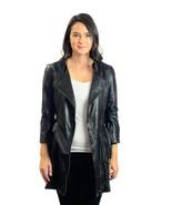 Sz 4 TOPSHOP Quilted Longline Biker Jacket Coat... - $294.53