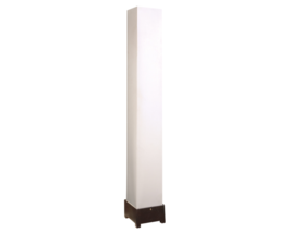 White Shade Floor Lamp with Solid Wood Base - $198.00