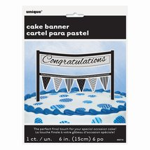 Cardboard Congratulations Cake Bunting Topper - $2.92