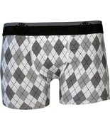 Lupo Mens Cotton Boxer Brief Sunga Trunk Underwear Gray Large - $9.31