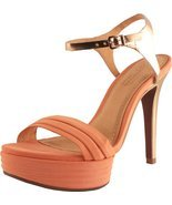 Klimini Women's Peach Leather Platform Ankle Strap Sandal 5 US - $85.85