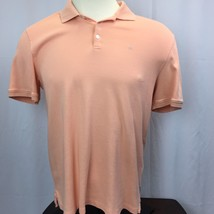 Mens Calvin Klein Collard Neck T-shirt size M Medium Peach 100% Cotton - $14.59