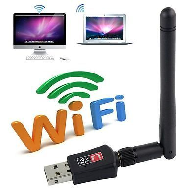 150 Mbps Dual Band 2.4 Wireless USB WiFi Network Adapter 802.11g/b/n w/Antenna for sale  USA