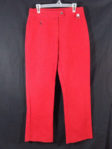 Tommy Hilfiger Women's Red Pants Size 12 Office, Work, Career, Church - $14.95