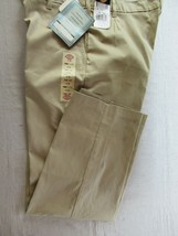 Dickies Women's work pants twill 18 Reg khaki relaxed fit stretch flat f... - $18.57