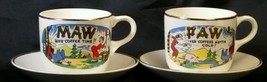 Pair of Hillbilly Paw & Maw Cups w/Homer Laughl... - $17.81