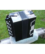RARE ANTIQUE SOVIET RUSSIAN USSR BUTTON ACCORDION BAYAN MOSCOW FACTORY 1... - $325.71