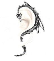 The Dragons Lure Left Stud Earring Ear Pewter Wrap Authentic Alchemy Got... - $30.95