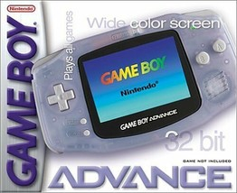 Nintendo Gameboy Advance Glacier Great Condition Fast Shipping - $69.93