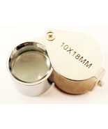 10X Jewelers Loupe Magnifier Chrome Plated 18mm  glass lens - $5.99