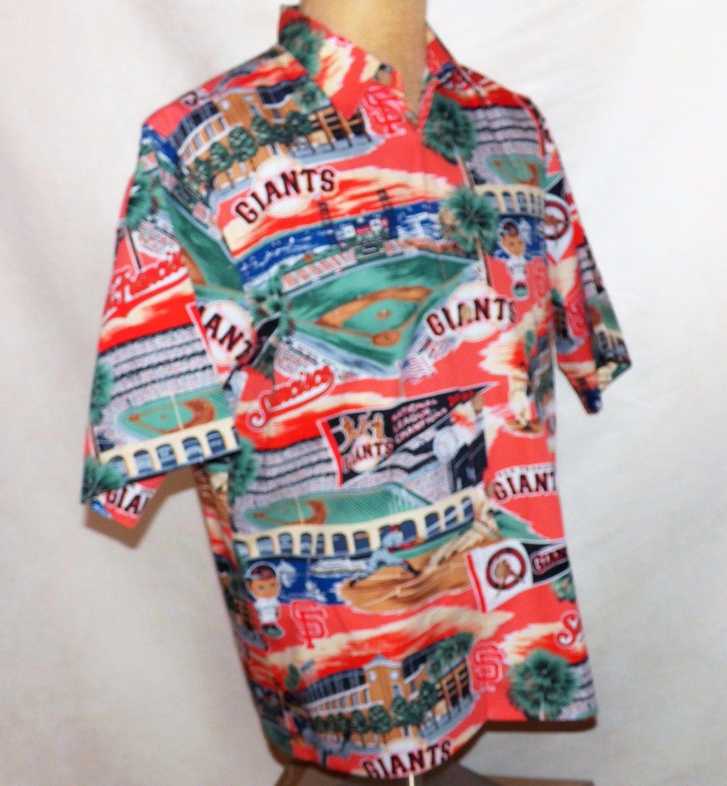 f390fbc6 Reyn Spooner MLB SF San Francisco Giants ATT Park McCovey Cove Hawaiian  Shirt L
