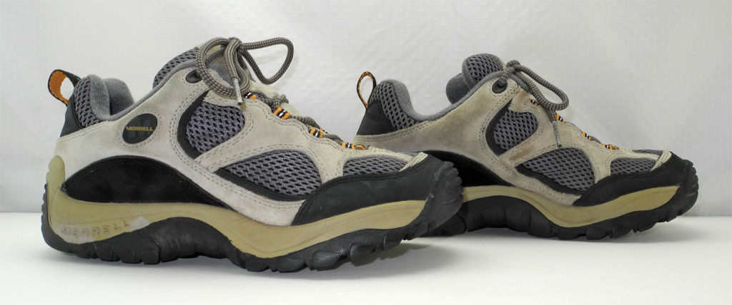 Merrell Baja Ventilator Ecru Suede Leather/Grey Mesh Hiking/Trail Shoes - 7.5