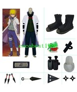 Yondaime 4th Hokage Halloween Cosplay Costume set from naruto any size - $93.27