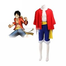 One Piece Monkey·D·Luffy Two Years Later Cosplay Costume Halloween japanese set - $20.38